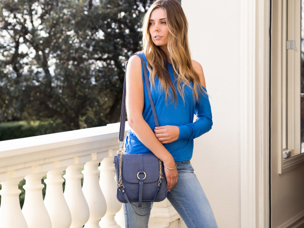 Monk Leather, Jordan shoulder bag, denim, Lifestyle image 02