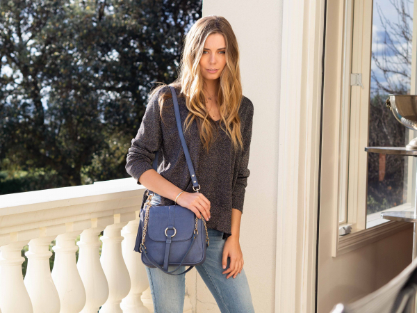 Monk Leather, Jordan shoulder bag, denim, Lifestyle image 03