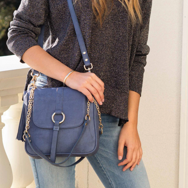 Monk Leather, Jordan shoulder bag, denim, Lifestyle image 01