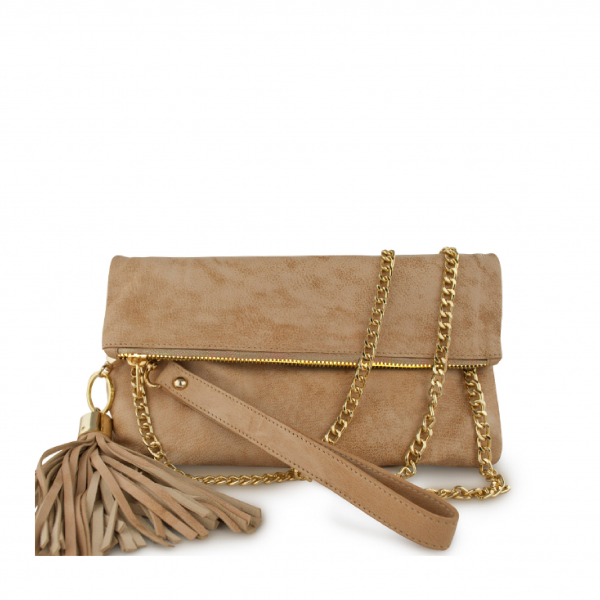 Monk Leather, August clutch, Camel, Product image 01