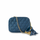 Monk Leather, Charlotte cross body bag, denim blue, Product image 01
