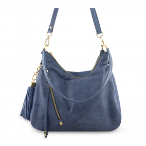 Monk Leather, Dani hobo bag, denim blue, Product image 01