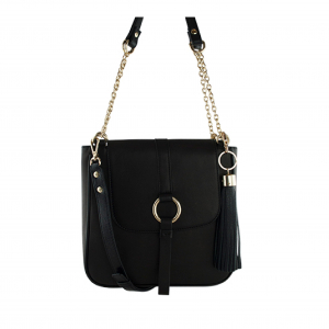 Monk Leather, Jordan shoulder bag, black, Product image 01