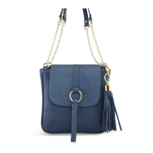 Monk Leather, Jordan shoulder bag, denim, Product image 01