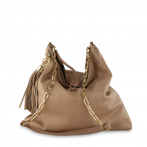 Monk Leather, Paige slouch tote bag, camel, Product image 01